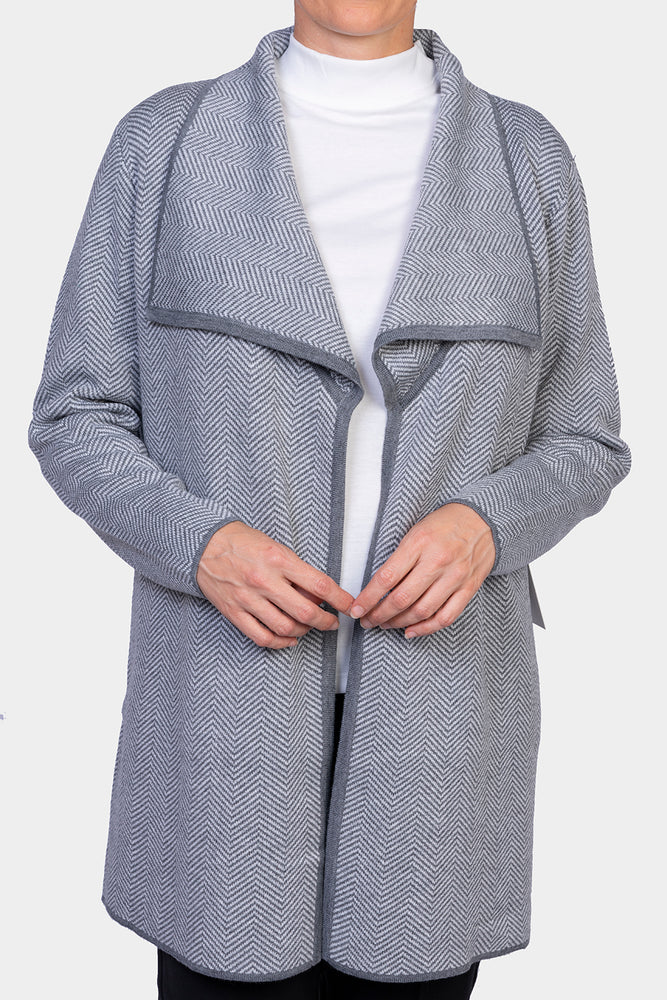 Long Line Knit Jacket