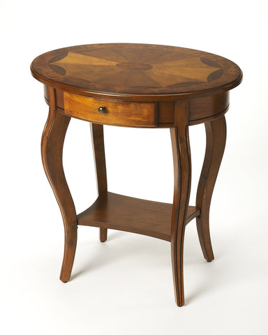 Butler Jeanette Olive Ash Burl Oval Accent Table 0532101