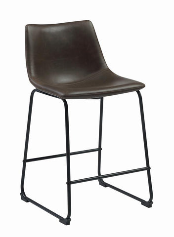Coaster Metal And Leatherette Bar Stool With Two Tone Brown Finish 102535