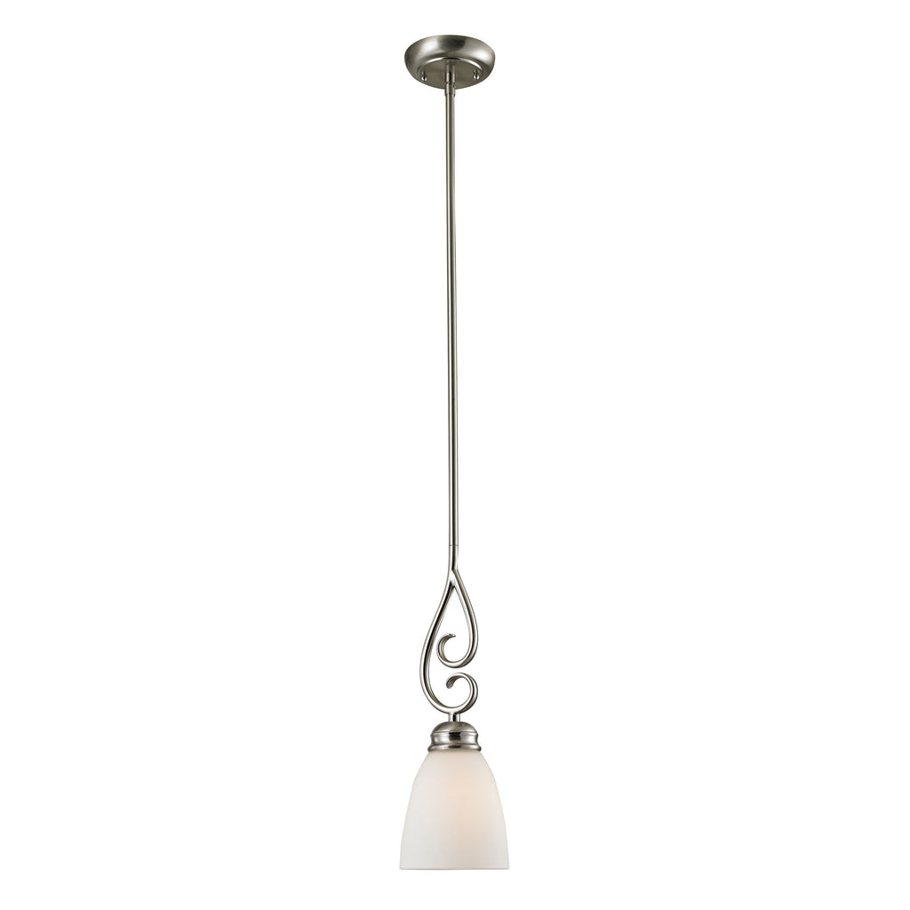 Corner Stone Chatham 1 Light Mini Pendant In Brushed Nickel 1101PS/20