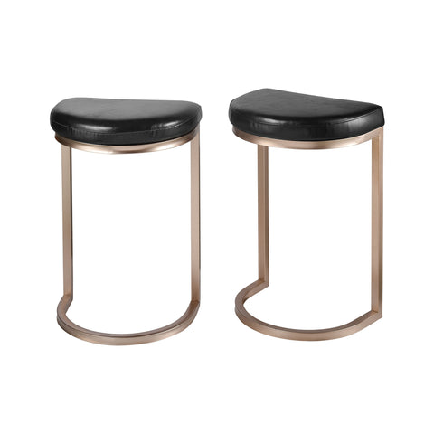 Elk Transitional Deuce Coupe Set Of 2 Stool With Black Finish 1114-374/S2 - gwg-outlet
