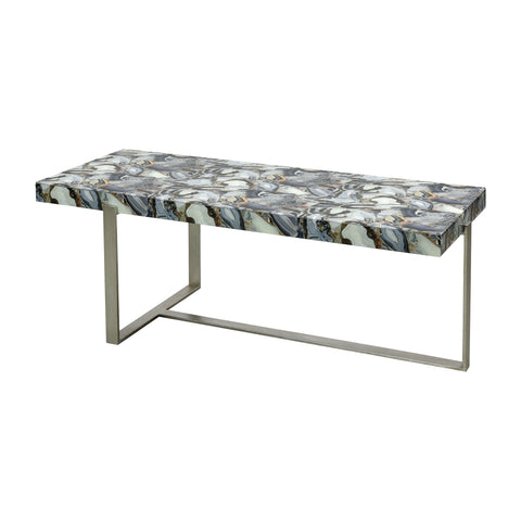 Elk Home Oyster Stone Coffee Table With Gray Finish 1114-414