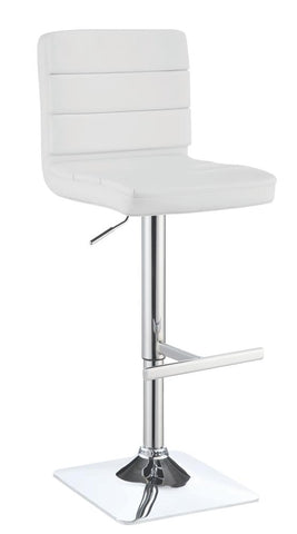 Coaster White Adjustable Bar Stool (Set of 2) 120694
