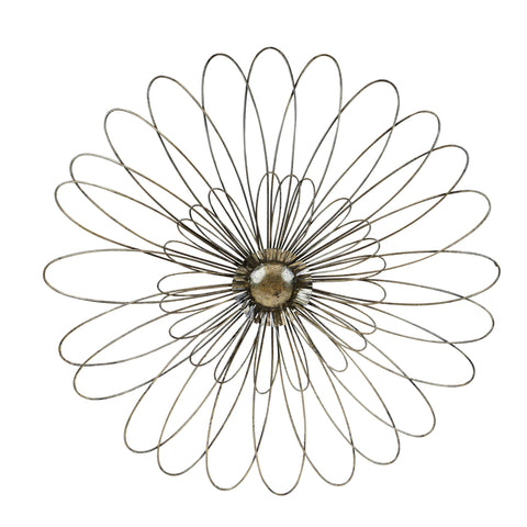 Sagebrook Home Gold Metal Daisy Wall Flower 12132-01