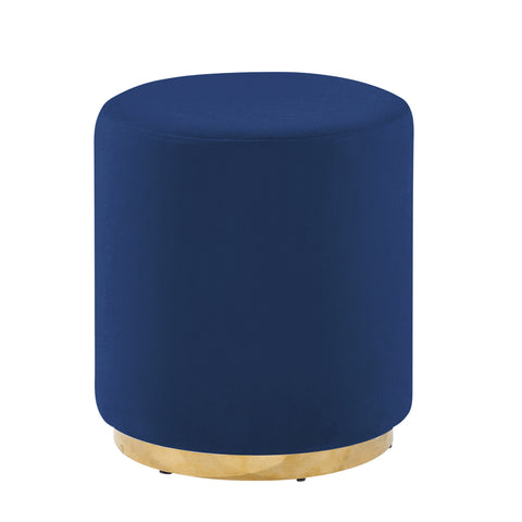 Sagebrook Home Navy And Gold Velveteen Stool 12801-02