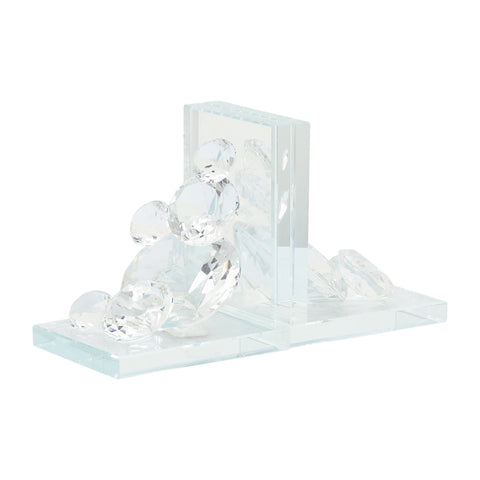 Sagebrook Home Set Of 2 Crystal Diamond Bookends 13196-02