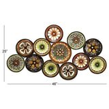 Zimlay Contemporary Textured Iron Disc Montage Wall Sculpture 13849