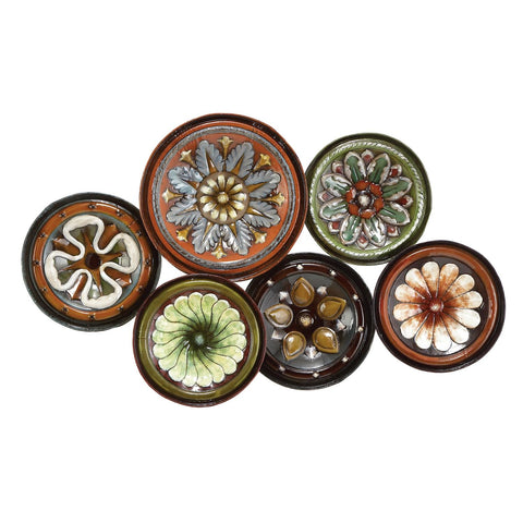 Zimlay Contemporary Floral Disc Montage Wall Decor 13925