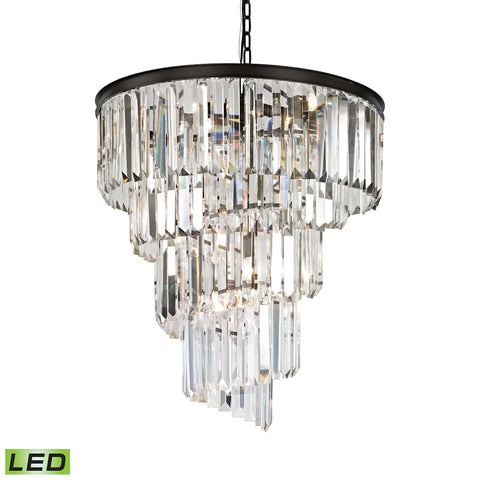 Elk Palacial 9 Light LED Chandelier in Oil Rubbed Bronze 14218/9-LED