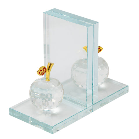 Sagebrook Home Set Of 2 Crystal Apple Bookends 14462-05