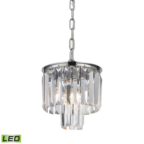 Elk Palacial 1 Light LED Pendant in Polished Chrome 15214/1-LED