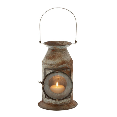 Zimlay Farmhouse Iron Milk Canister Candle Lantern With Handle 20346