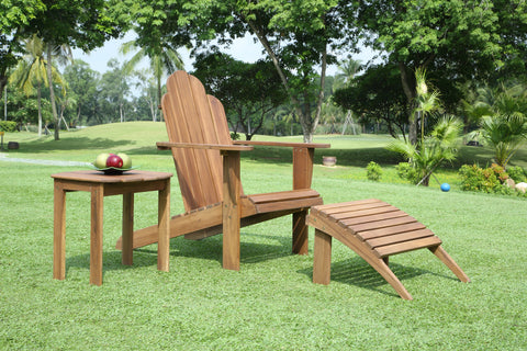 Linon Solid Wood Acacia Chair With Teak Finish 21150T36-01-KD-U