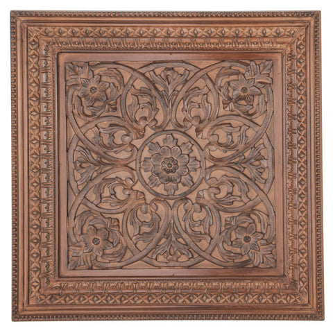 Zimlay Traditional Carved Wooden Wall Panel 22355