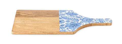 Imax Jemmi Blue And White Decal Wood Cutting Board 23471