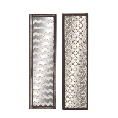 Zimlay Traditional Chevron Wooden Set Of 2 Wall Panels 23712