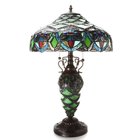 Warehouse of Tiffany Arielle Green 2-Light Table Lamp