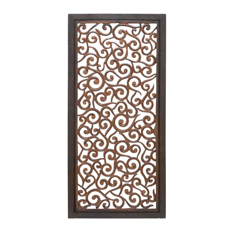 Zimlay Scroll Work Wood Wall Panel 34092