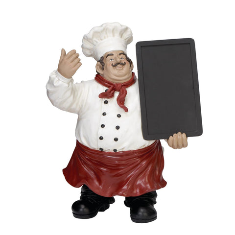 Zimlay Ecelctic Bistro Chef Blackboard Resin Figurine 35535