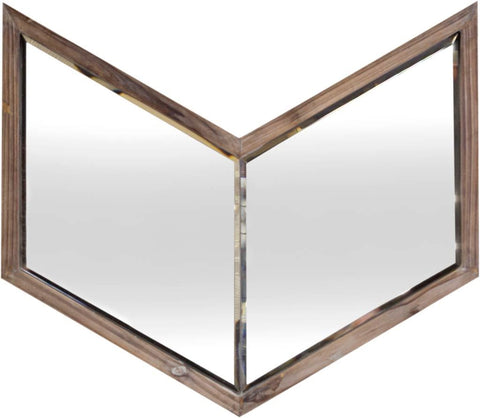 Mercana Modern Mirror With Brown Finish 37261