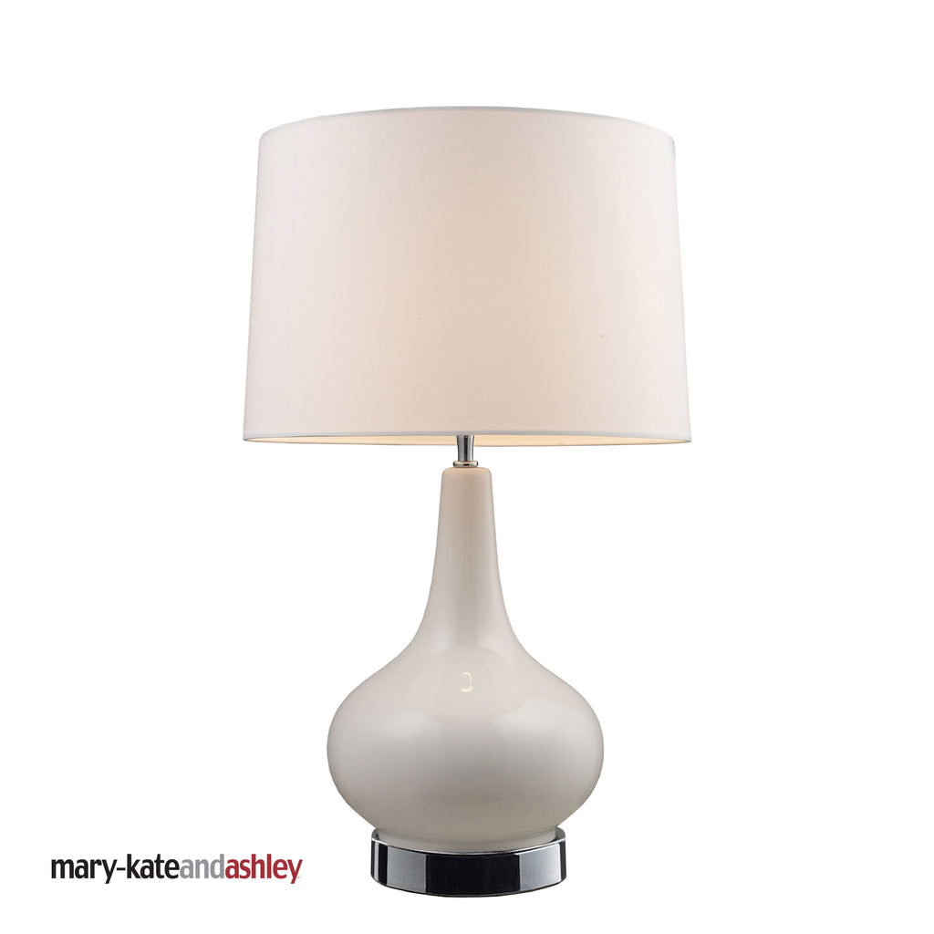 "Dimond Mary Kate and Ashley 27"" Continuum White Table Lamp in Chrome 3935/1"