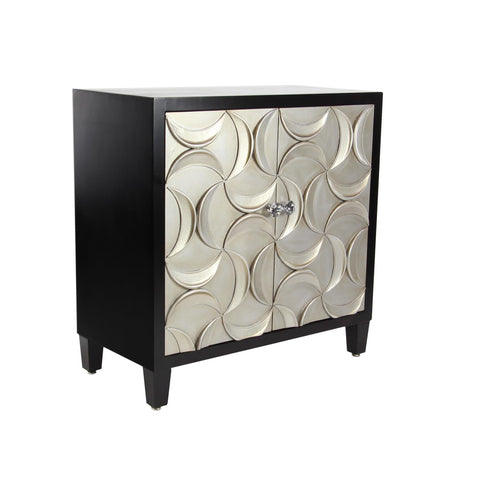 Zimlay Modern Wood And Iron Two-Door Cabinet 39875