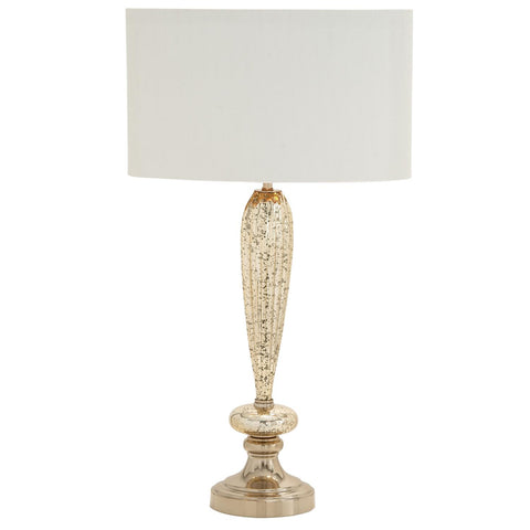 Zimlay Eclectic Fluted Glass Bat Buffet Lamp With White Linen Shade 40191