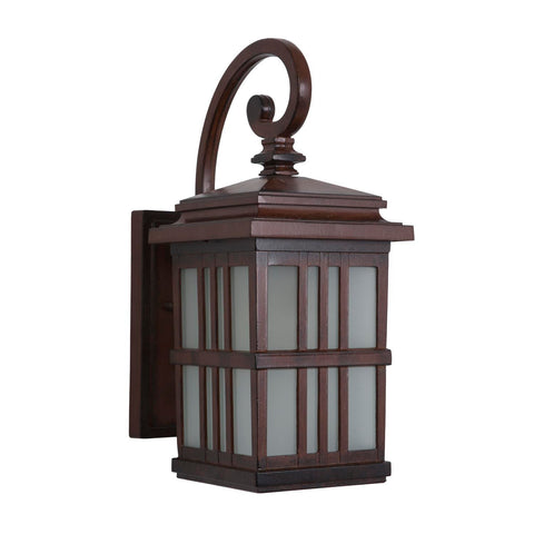 Yosemite Aluminum One Light Exterior With Brown Finish 4231SDIBR