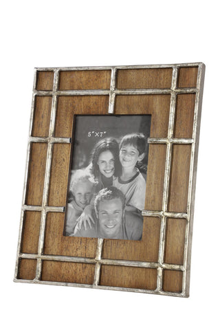 Zimlay Industrial Metal And Wood Photo Frame 43649