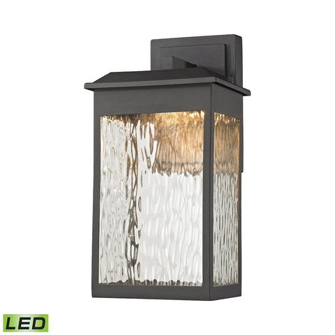 Elk Newcastle LED Outdoor Wall Sconce in Matte Black 45200/LED