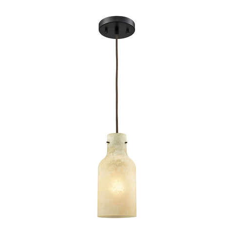 Elk Weatherly Metal Pendant In Oil Rubbed Bronze Finish 45355/1