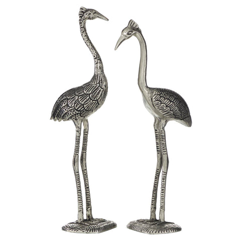 Zimlay Tall Metal Set Of 2 Flamingo Statue 46745