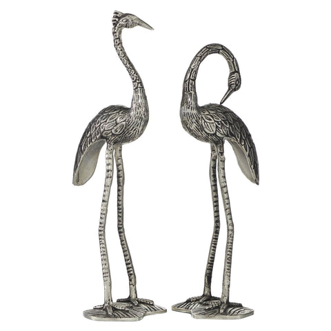Zimlay Metal Set Of 2 Flamingo Statue 46746