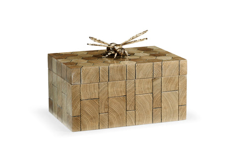 Jonathan Charles Curated Rectangular Oyster Honeycomb Oak Bee Box 495943-OHO