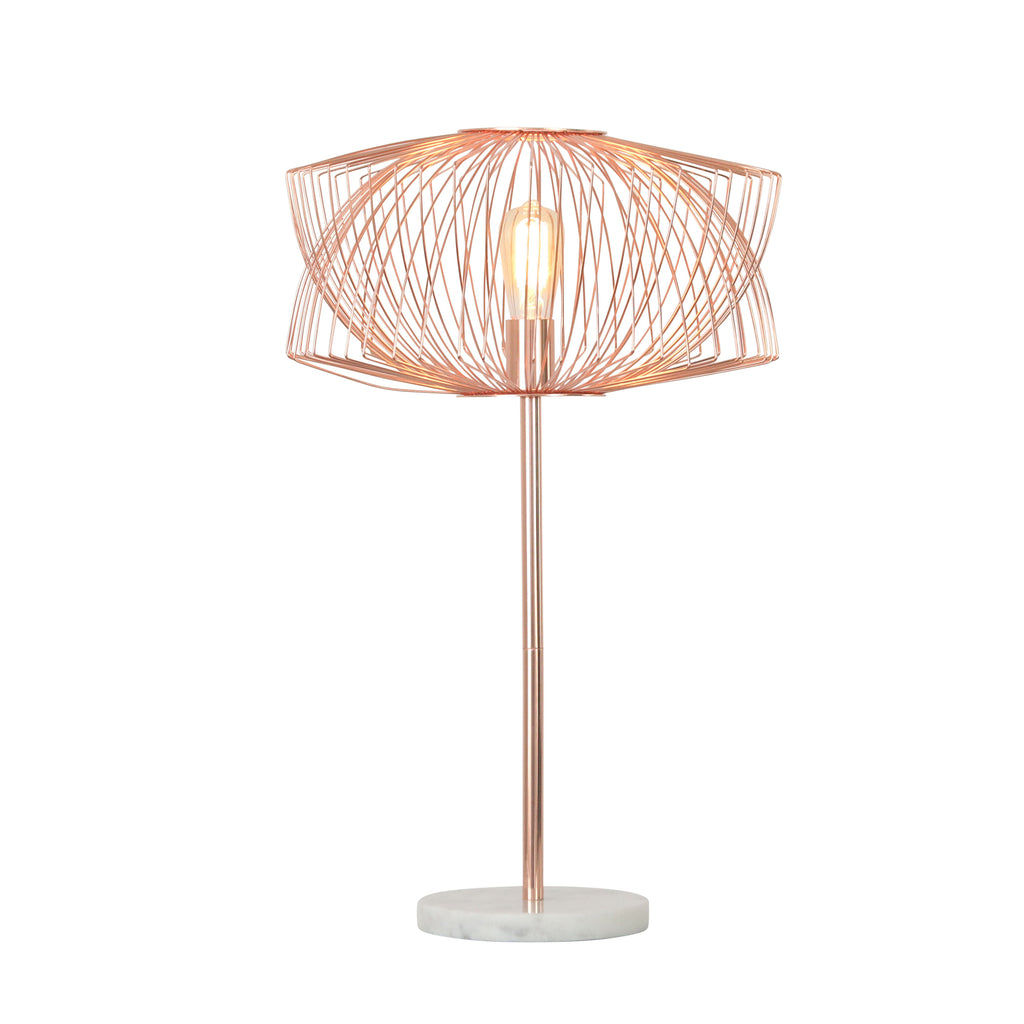 "Sagebrook Home Metal 28"" Table Lamp With Cage Shade 50293"