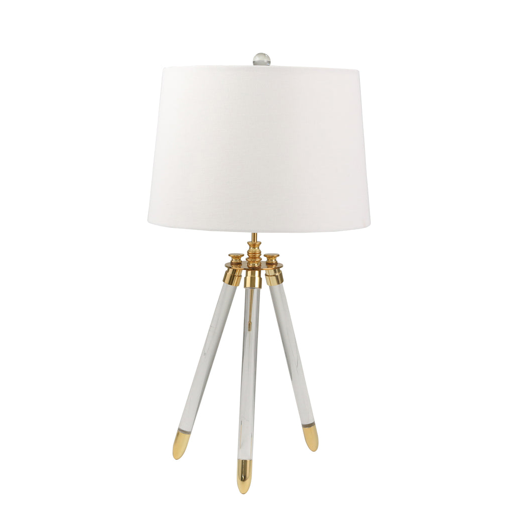 "Sagebrook Home Acrylic 29"" Tripod Table Lamp 50320-01"