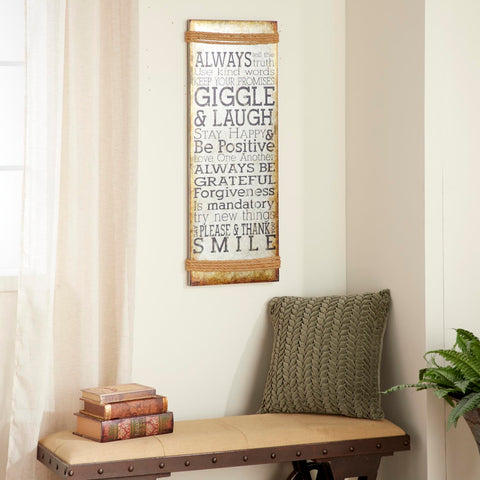 Zimlay Rustic Inspirational Saying Iron Wall Sign 55473