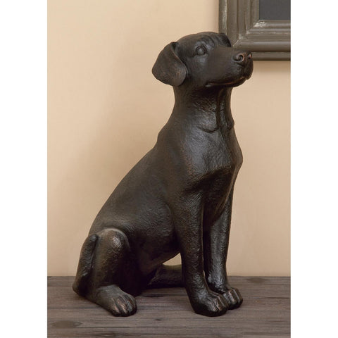 Zimlay Eclectic Resin Sitting Retriever Dog Sculpture 55601