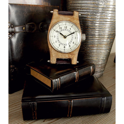 Zimlay Traditional Wood And Leather Set Of Three Book Boxes 55701