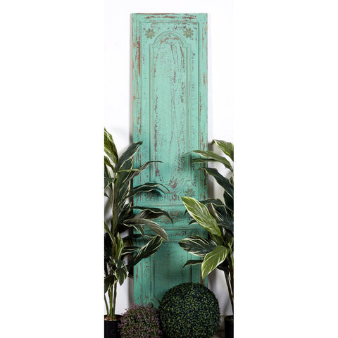Zimlay Farmhouse Distressed Sage Antique Wooden Door Wall Panel 56166