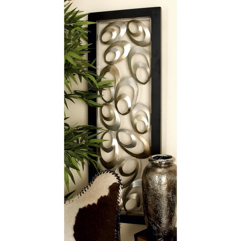 Zimlay Contemporary Abstract Oval Metal Wall Panel 56867
