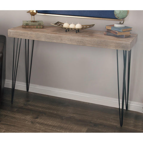 Zimlay Modern Fir Wood And Iron Console Table 56974
