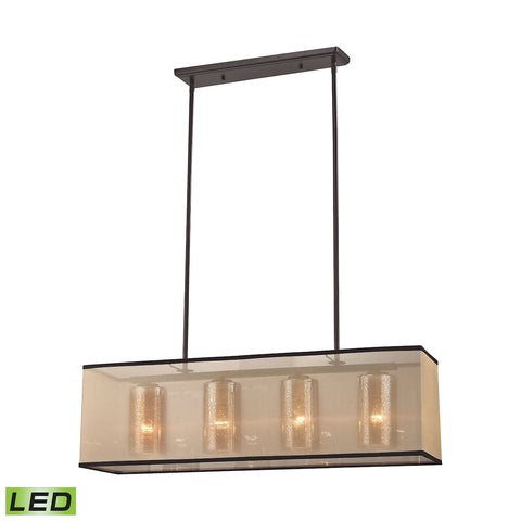 Elk Diffusion 4 Light LED Chandelier in Oil Rubbed Bronze 57028/4-LED
