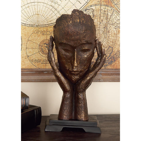 Zimlay Traditional Resin Meditating Woman Statue 58269