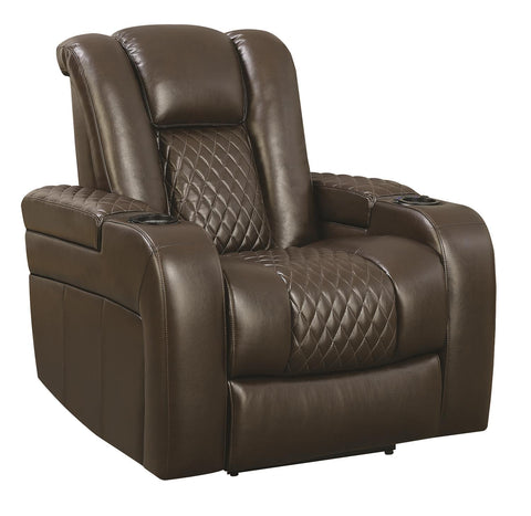 Coaster Leather Recliners With Brown Finish 602306P