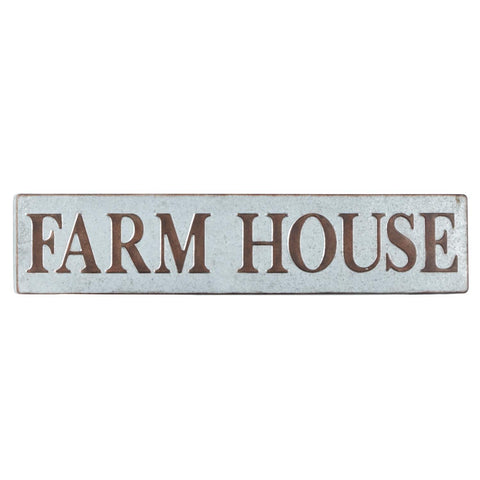 Zimlay Farmhouse Iron Rectangular Wall Sign 64335