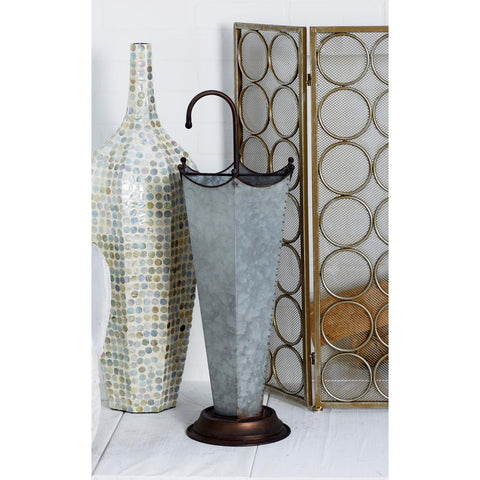 Zimlay Farmhouse Galvanized Iron Umbrella Stand 65691