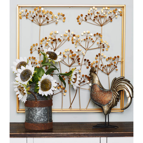 Zimlay Modern Branch And Leaves Iron Wall Decor 74833