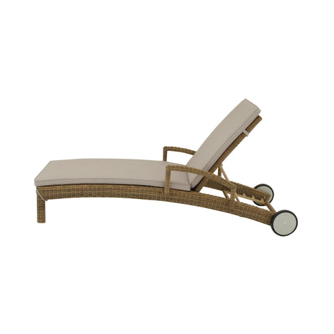Zimlay Contemporary Adjustable Wicker Lounger 77501