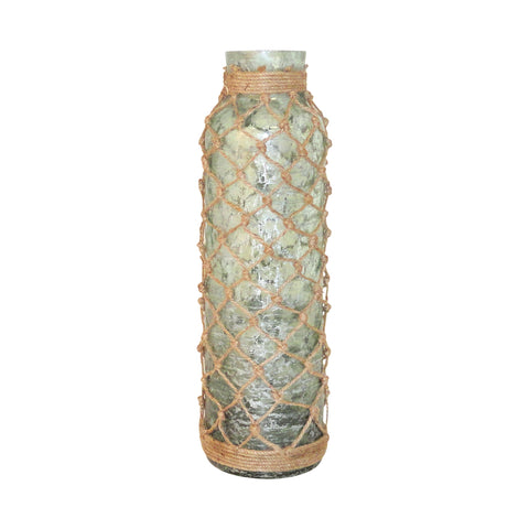 Pomeroy Pescador Bottle in Azure Artifact with Jute Wrap Finish 780493